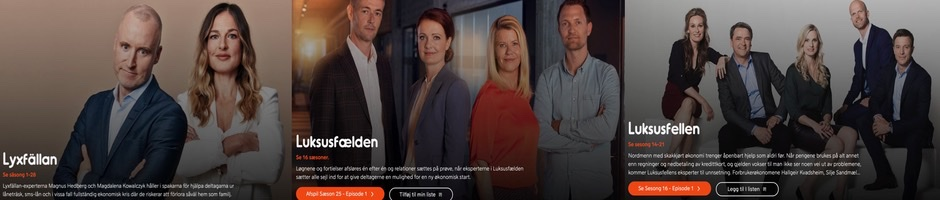 29TH SEASON OF BUMP'S LUXURY TRAP SWEDISH ADAPTATION, LYXFALLAN, AIRED ON 2 FEBRUARY 2021. 26TH SEASON OF DANISH ADAPTATION, LUKSUSFÆLDEN, STARTING ON 9 FEBRUARY 2021 ON TV3 DANMARK AND VIAPLAY.